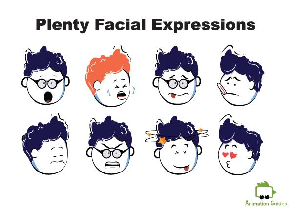 Daniel puppet facial expressions