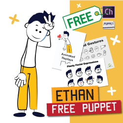 Ethan free stick puppet