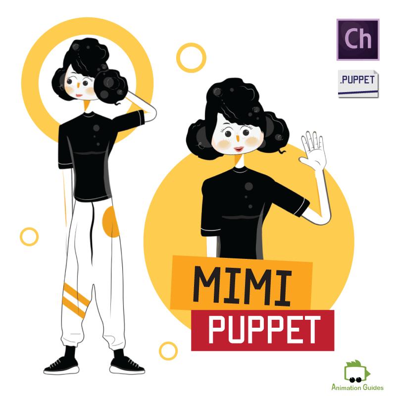Mimi female puppet