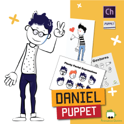 Daniel puppet for Adobe Character Animator