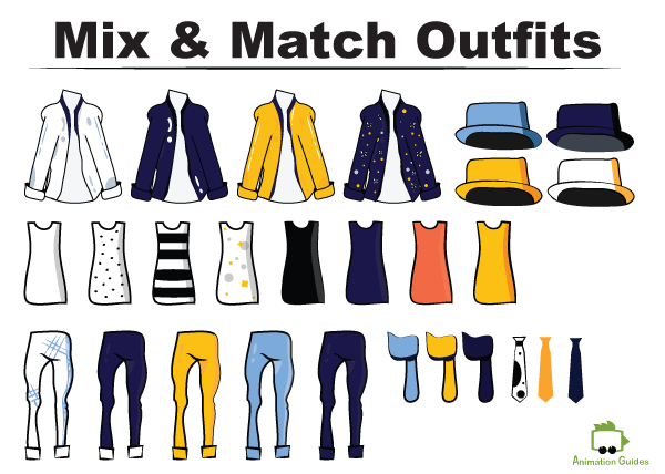 mix and match outfits for Daniel puppet