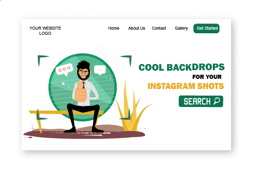 Rogerio illustrations backdrops for instagram