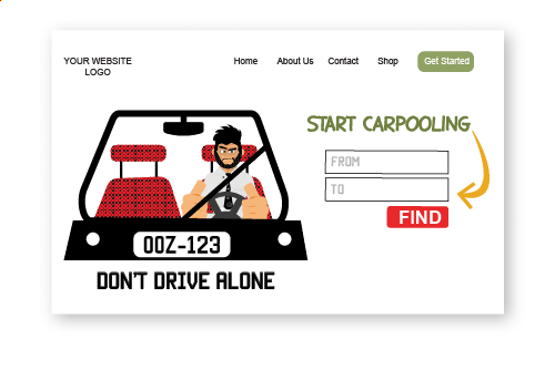Rogerio illustrations carpooling
