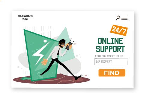 Rogerio illustrations online support