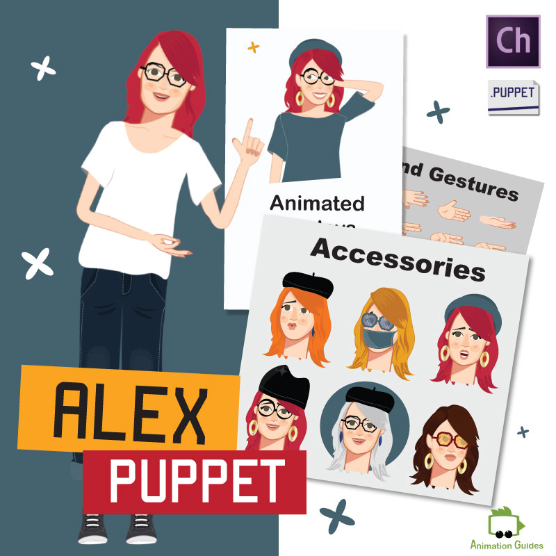 alex female puppet for Adobe Character Animator