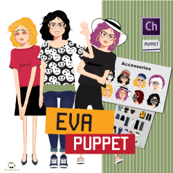 Customizable female puppet Eva for CH