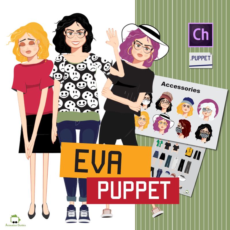 Eva Adobe character puppet