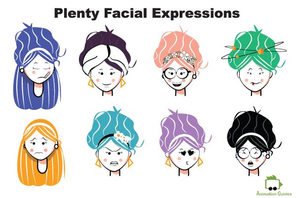Rachel puppet facial expressions