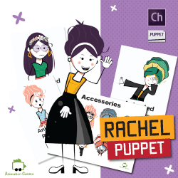 Rachel Female Stick Puppet for Adobe Character Animator