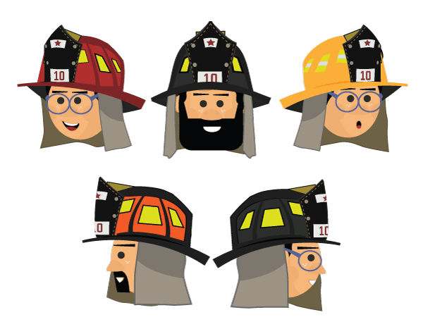 albert fireman puppet accessories