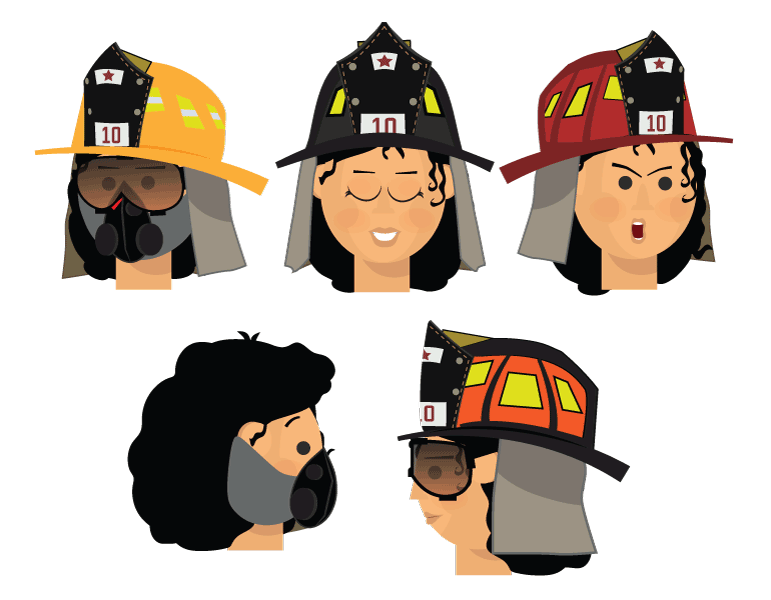 Gaya firefighter puppet
