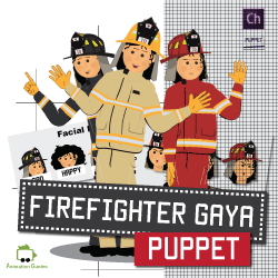 gaya female firefighter puppet