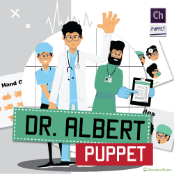doctor albert puppet for adobe character animator