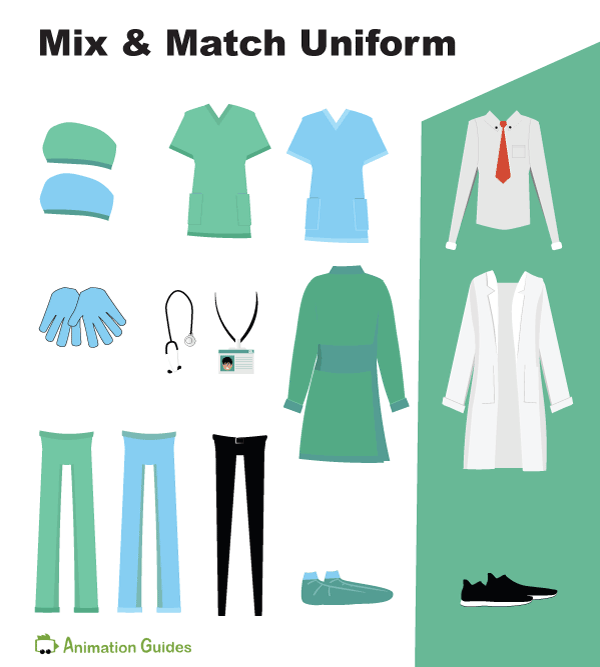 mix and match doctor uniform and accessories for doctor albert puppet
