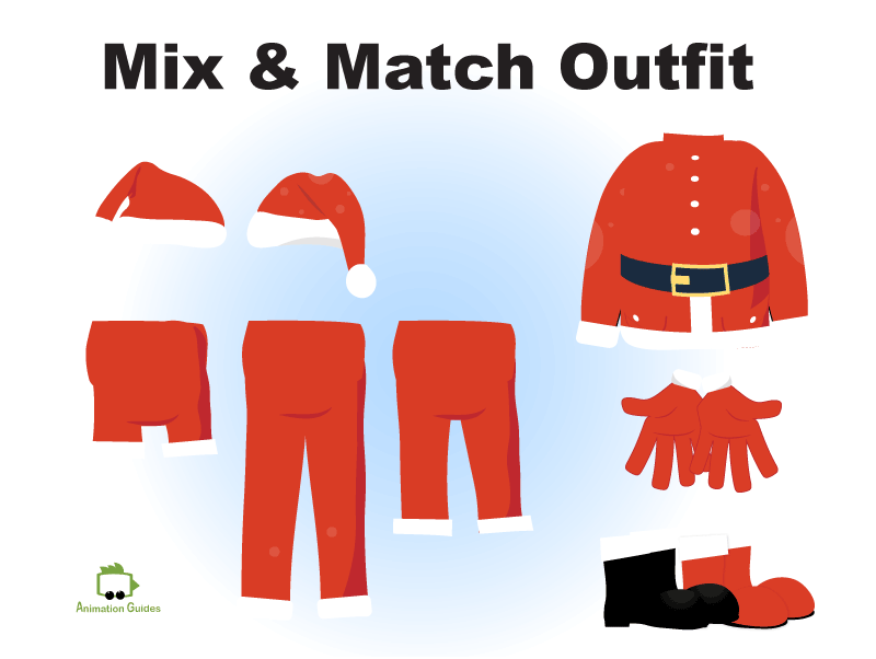 mix and match santa puppet outfit