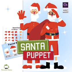santa puppet for adobe character animator