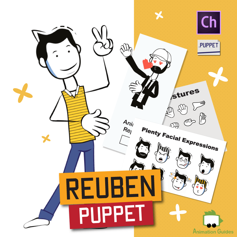 reuben stick puppet for adobe character animator