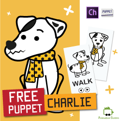 free dog puppet for adobe character animator
