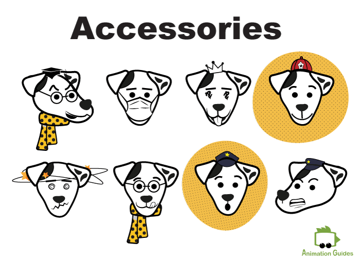 charlie dog puppet for adobe character animator accessories