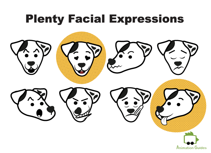 dog puppet for character animator facial expressions