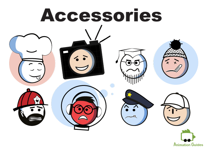 generic stick figure puppet facial accessories