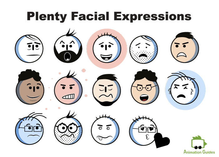 generic stick puppet facial expressions