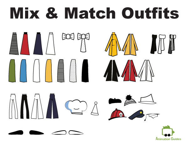 bo stick figure puppet mix and match outfits