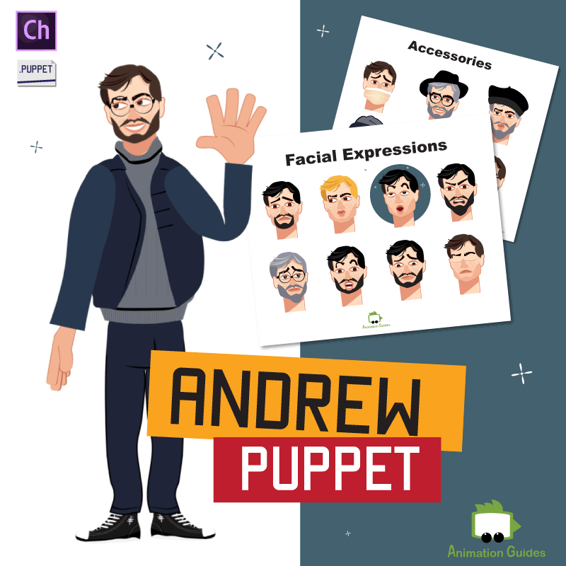 Andrew Male Puppet for Adobe Character Animator
