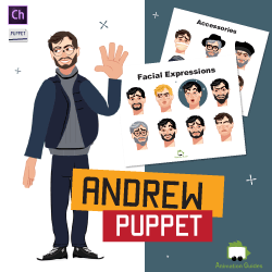 Andrew Stylish Male Puppet for Adobe Character Animator