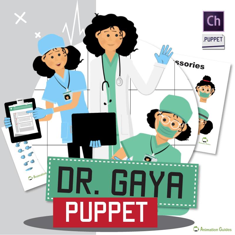 Female Doctor Gaya Puppet for Adobe Character Animator