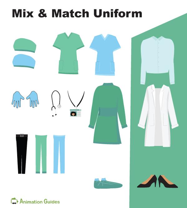 doctor gaya puppet mix and match uniform items