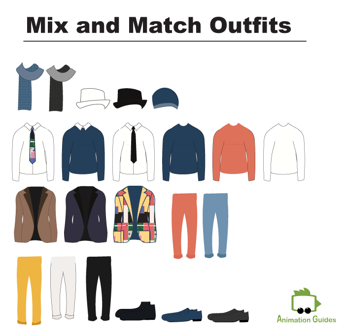 mix and match cloth items for kevin male puppet in adobe character animator