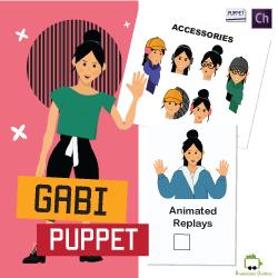gabi female puppet for adobe character animator