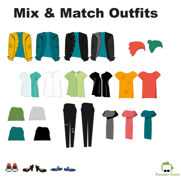 adele mix and match outfits customizable puppet for adobe character animator