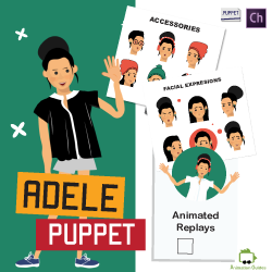 download adele stylish female puppet for adobe character animator