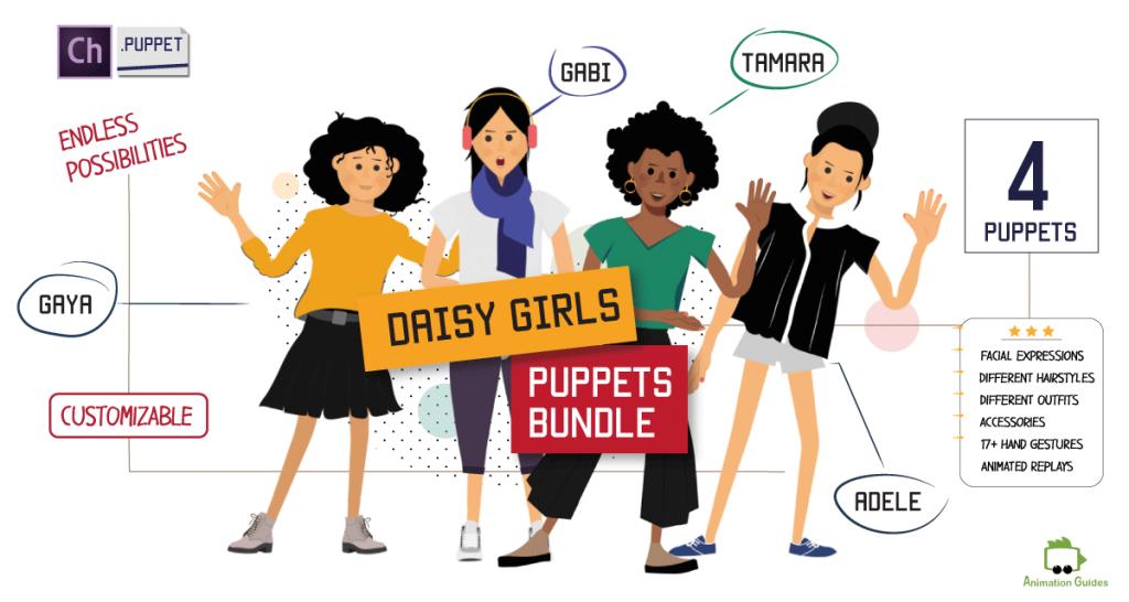 Daisy Girls 4 Female Puppets Bundle