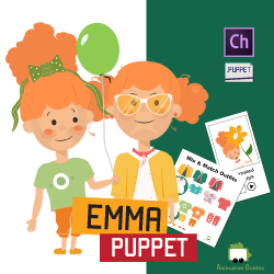 Download Emma Customizable Little Girl Puppet for Adobe Character Animator