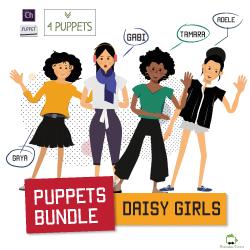 daisy girls bundle of customizable female puppets for adobe character animator
