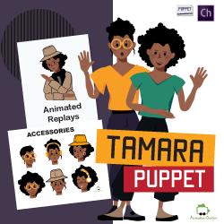 Tamara African female customizable puppet for adobe character animator
