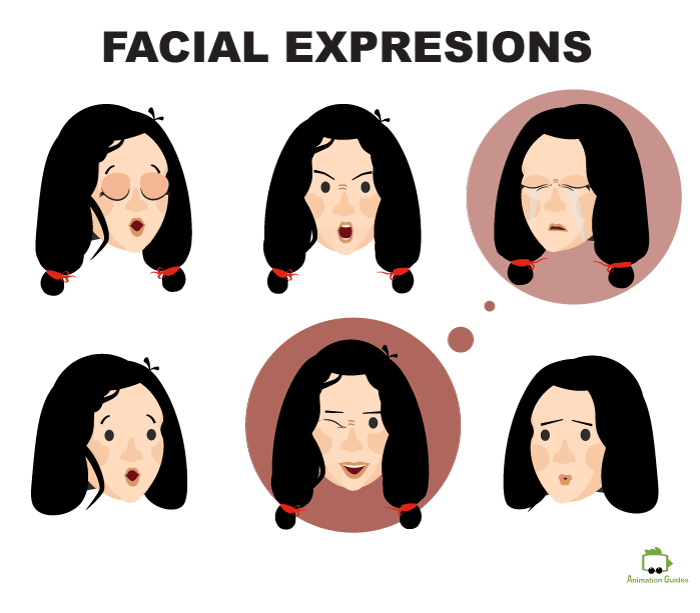 Facial expressions Michelle Puppet Adobe Character Animator