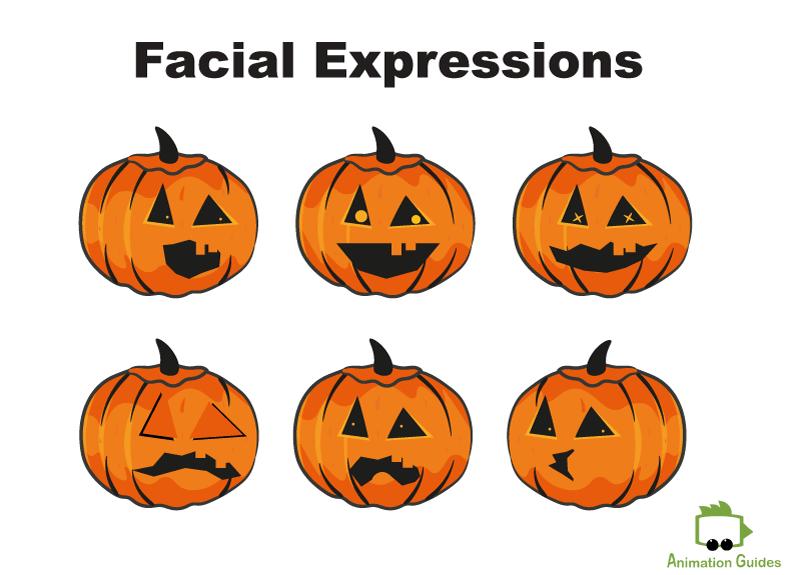 Pumpkin Character Puppet Facial expressions