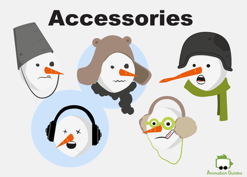 facial accessories for snowman puppet adobe character animator