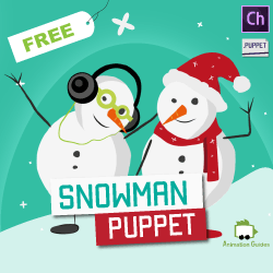 free customizable snowman puppet for adobe character animator