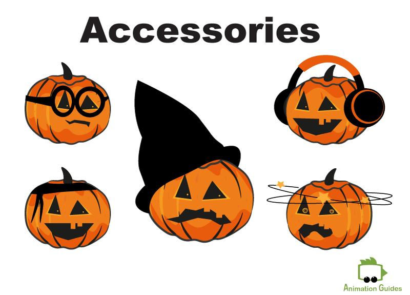 pumpkin character puppet facial accessories adobe ch