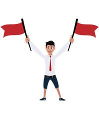jim character with two flags