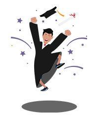 jim character happy graduation